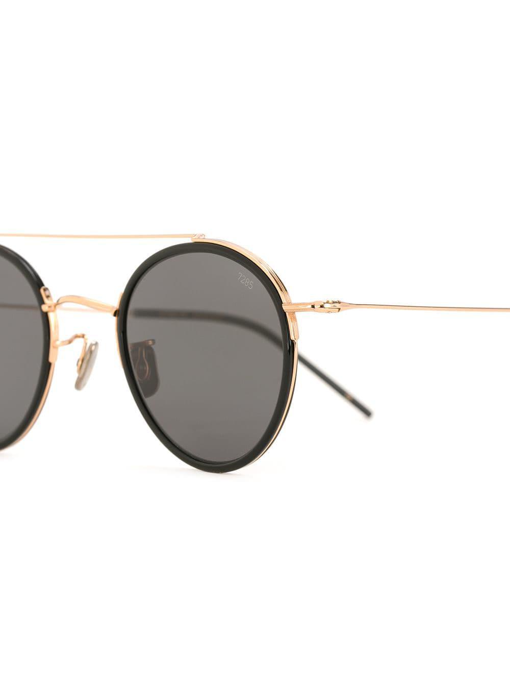 ace4ab706d2 Eyevan 7285 - Metallic Round Frame Sunglasses for Men - Lyst. View  fullscreen
