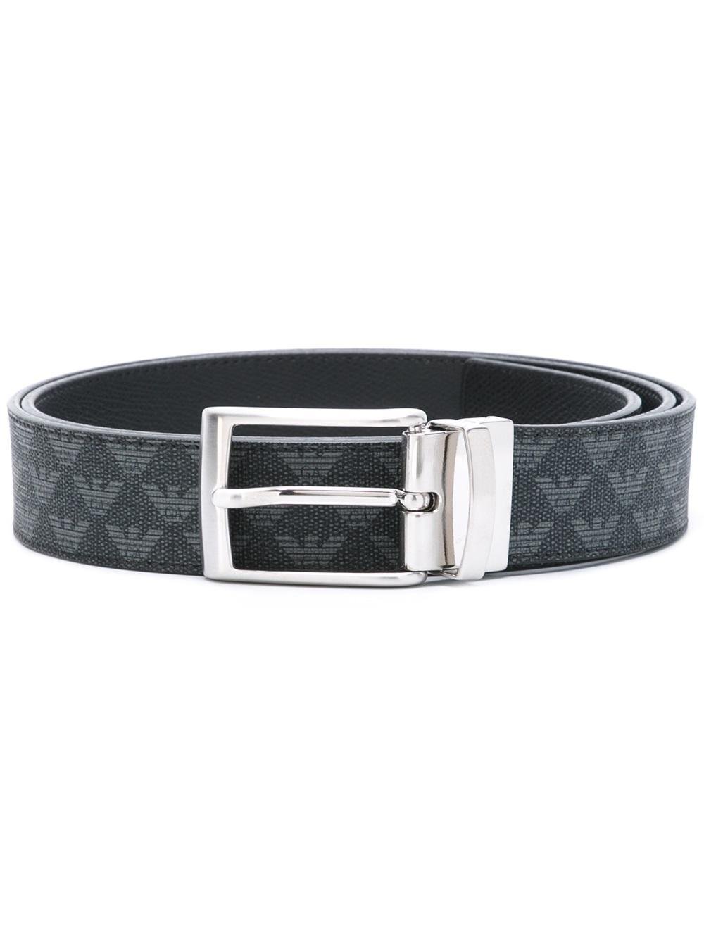 Emporio armani Logo Belt in Black for Men   Lyst
