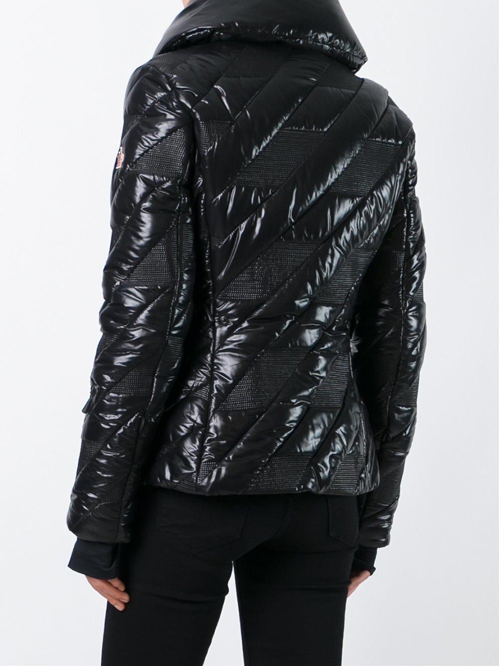 lyst moncler grenoble 39 queyras 39 padded jacket in black. Black Bedroom Furniture Sets. Home Design Ideas