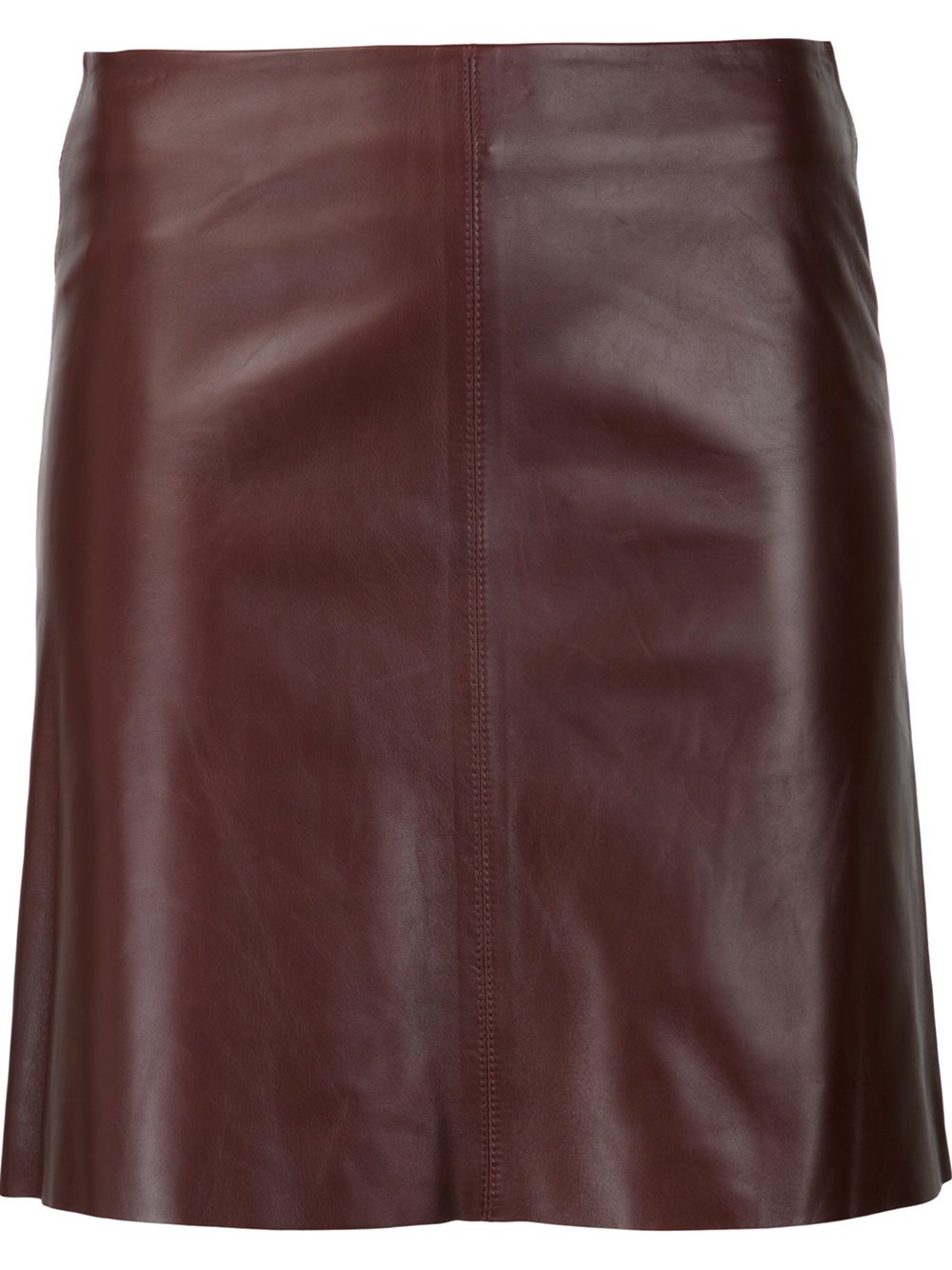 theory leather skirt in blue lyst