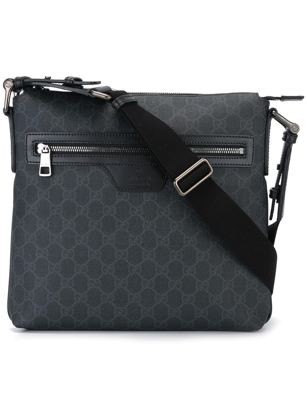 451a1dbd24a050 Gucci - Monogram Messenger Bag - Men - Leather - One Size in Gray ...