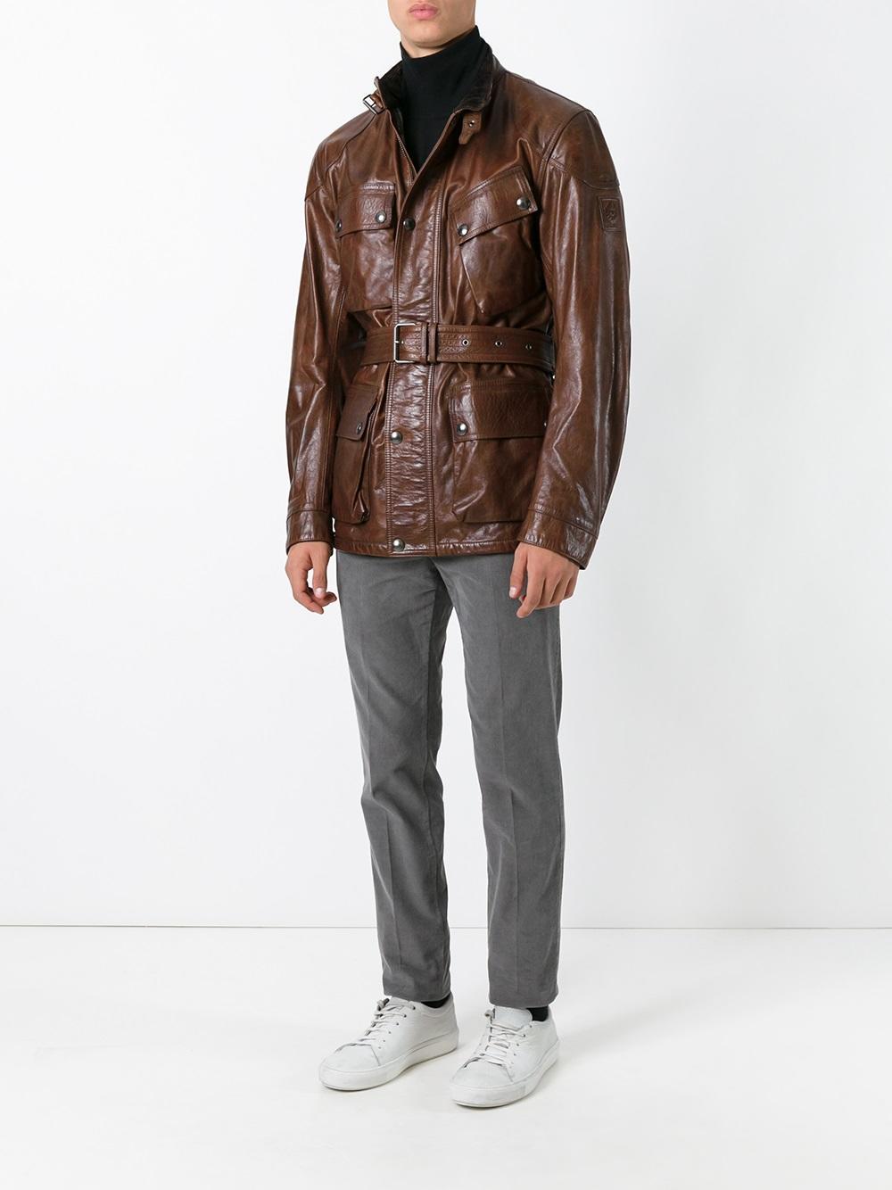 belstaff 39 panther 39 jacket in brown for men lyst. Black Bedroom Furniture Sets. Home Design Ideas