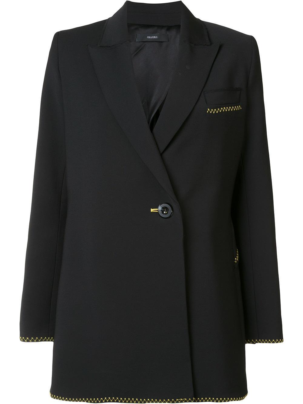 lyst ellery oversized blazer women nylon spandex elastane wool 6 in black. Black Bedroom Furniture Sets. Home Design Ideas