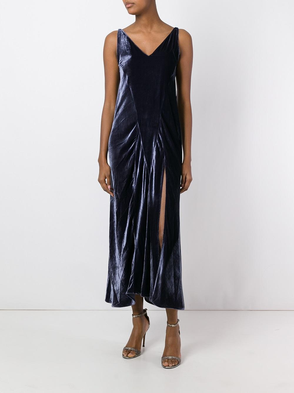 Attico Marisa Dress In Blue Lyst