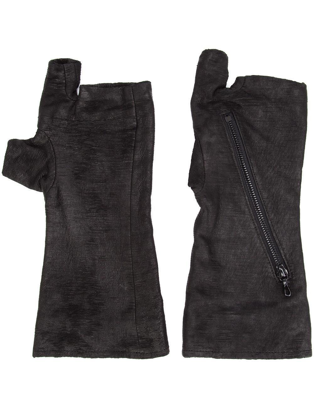 julius fingerless gloves in black for men lyst