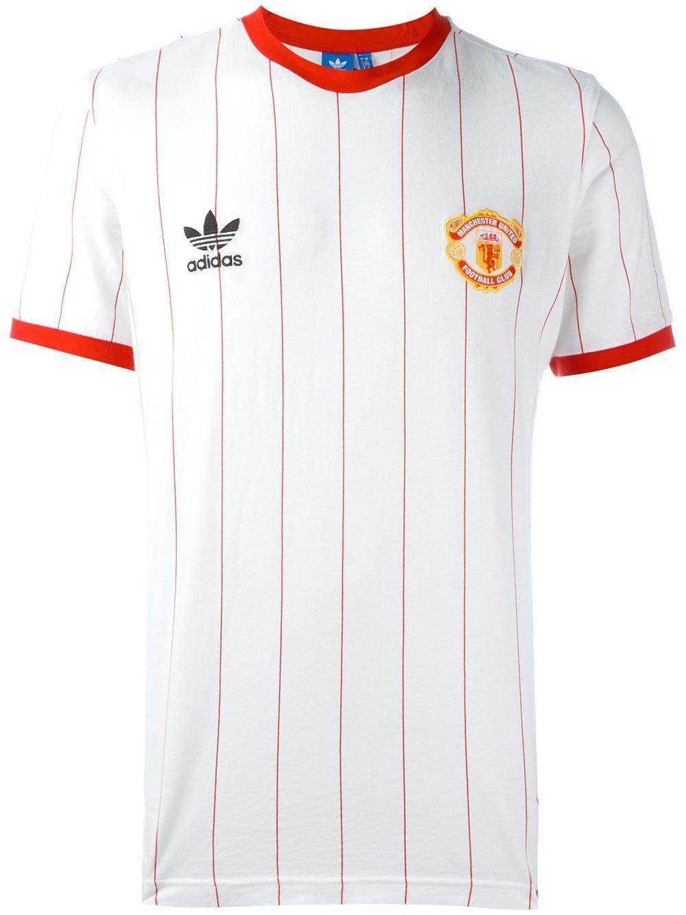 202a52069 adidas Originals Manchester United Fc Pinstripe Jersey T-shirt in ...