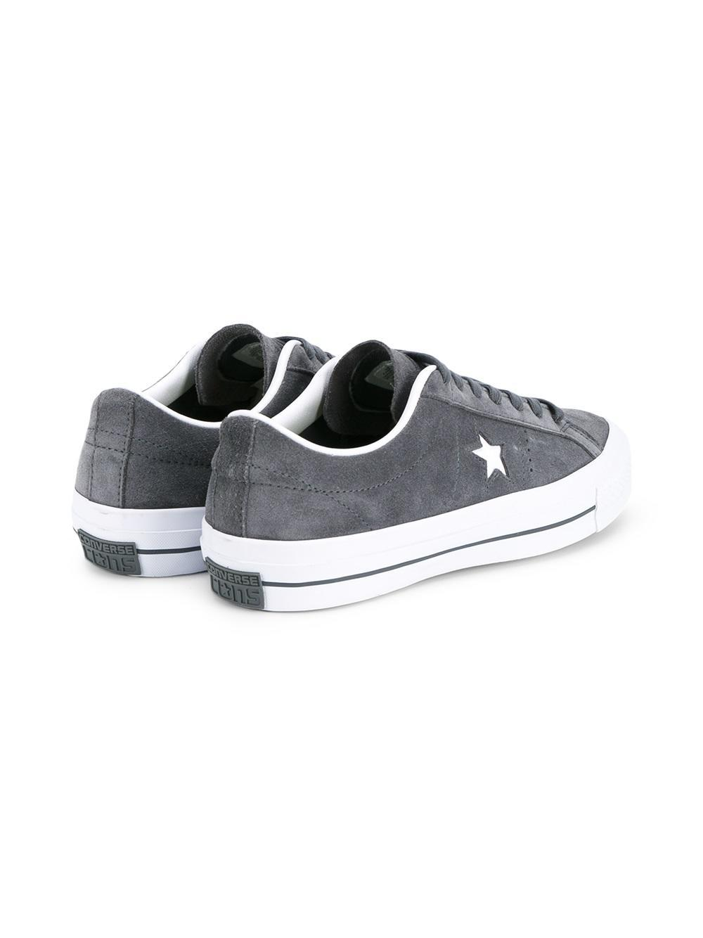 Converse Classic Low Top Sneakers In Gray For Men Lyst