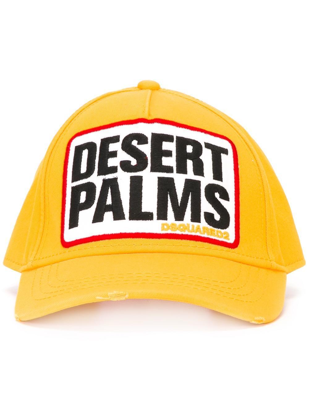 low priced 0fb86 ea404 DSquared² Desert Palms Baseball Cap in Yellow for Men - Lyst