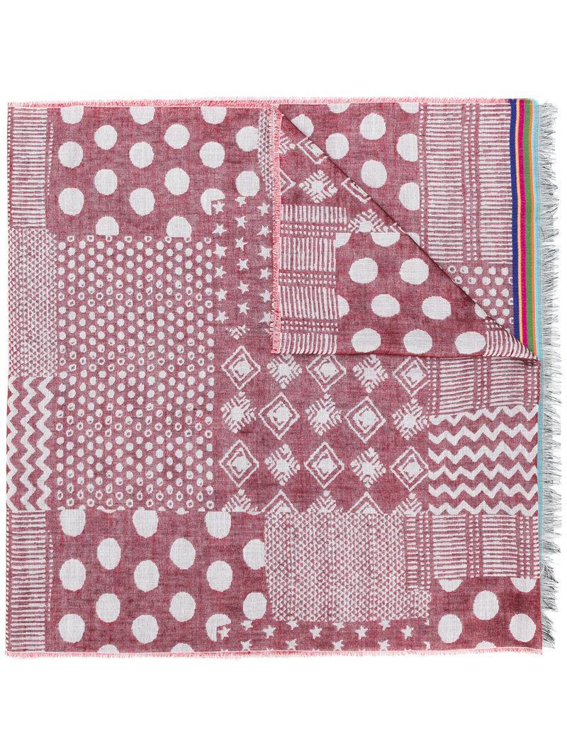 circle print scarf - Pink & Purple Paul Smith Pez1jBZv8