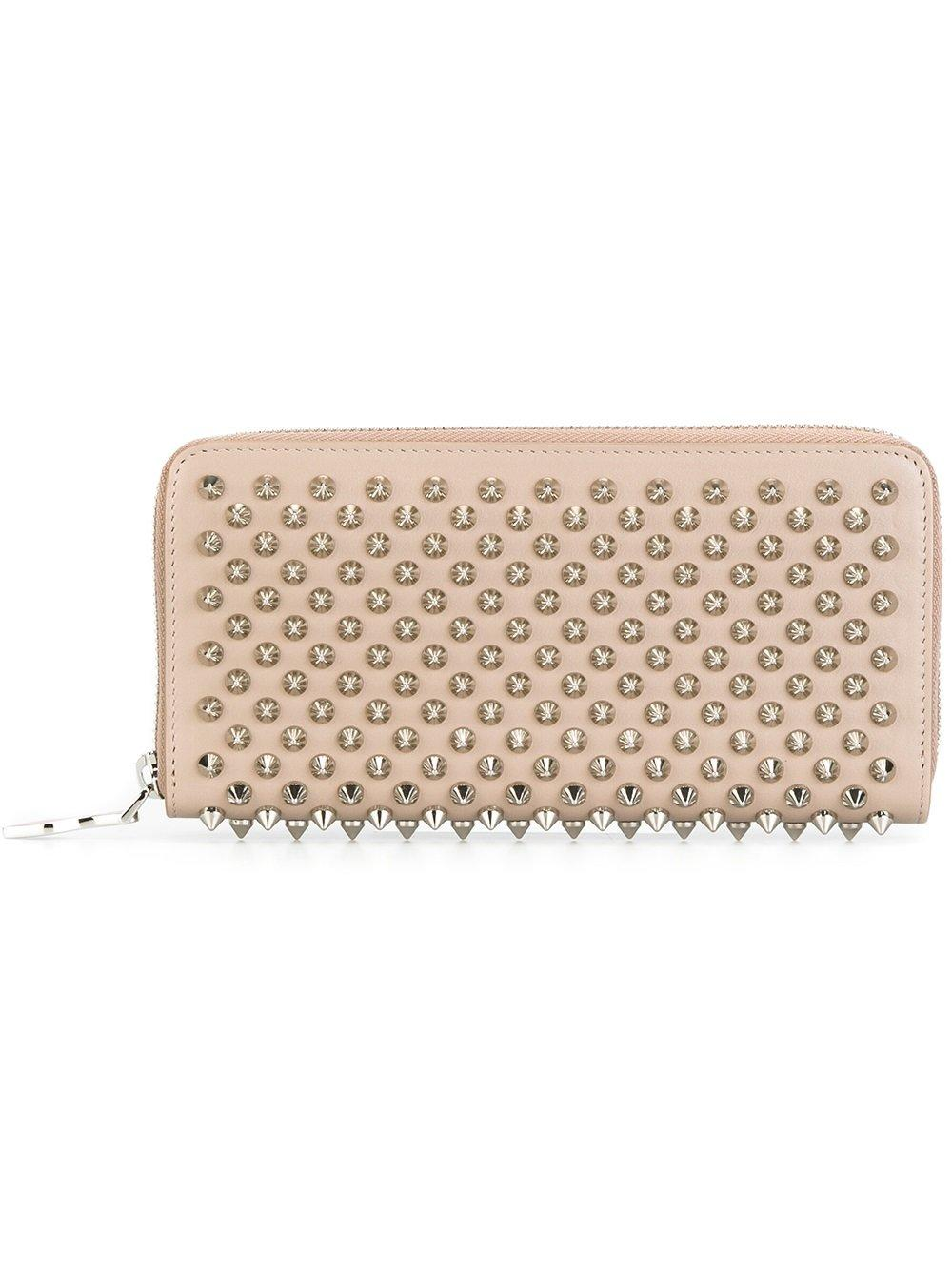 cf5e3c3df1 Lyst - Christian Louboutin Studded Wallet in Natural