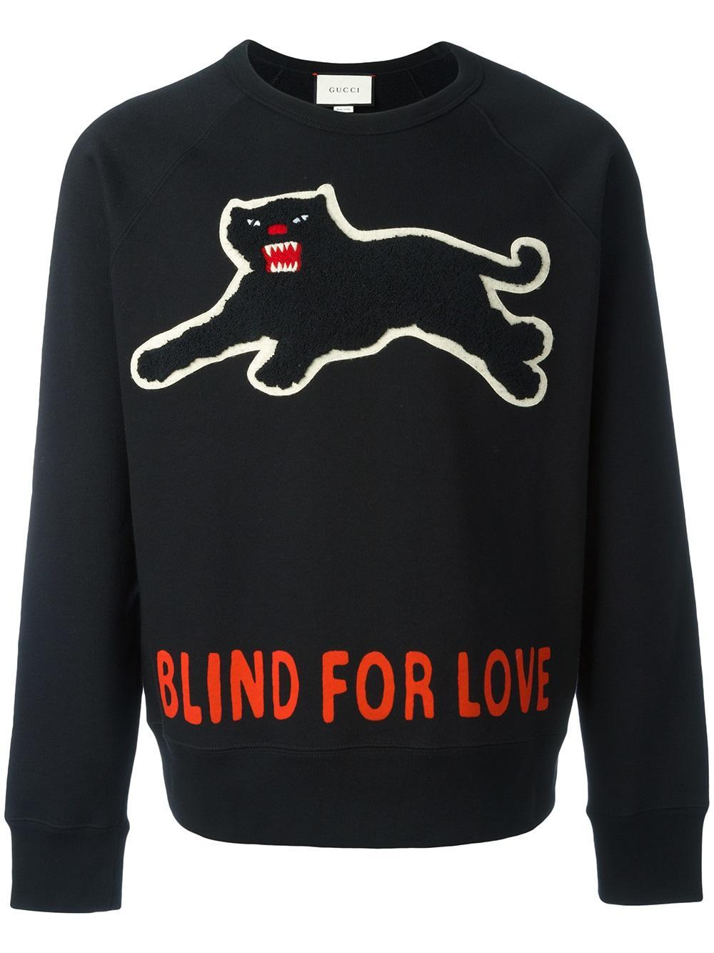 Lyst Gucci Panther Sweatshirt In Black For Men