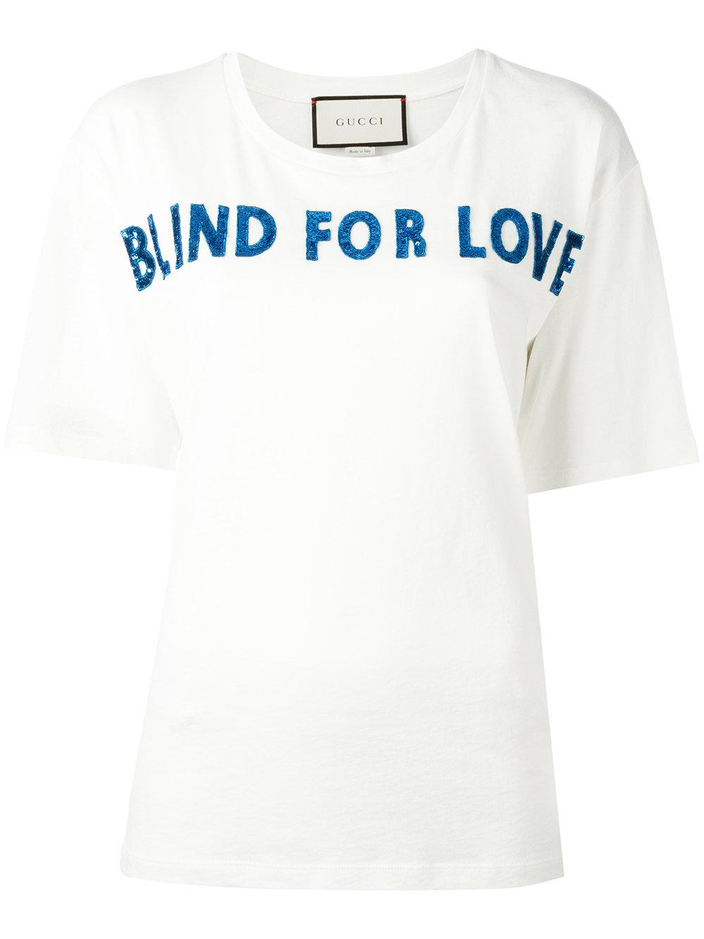 8144a5a66 Gucci Blind For Love T-shirt in White - Lyst