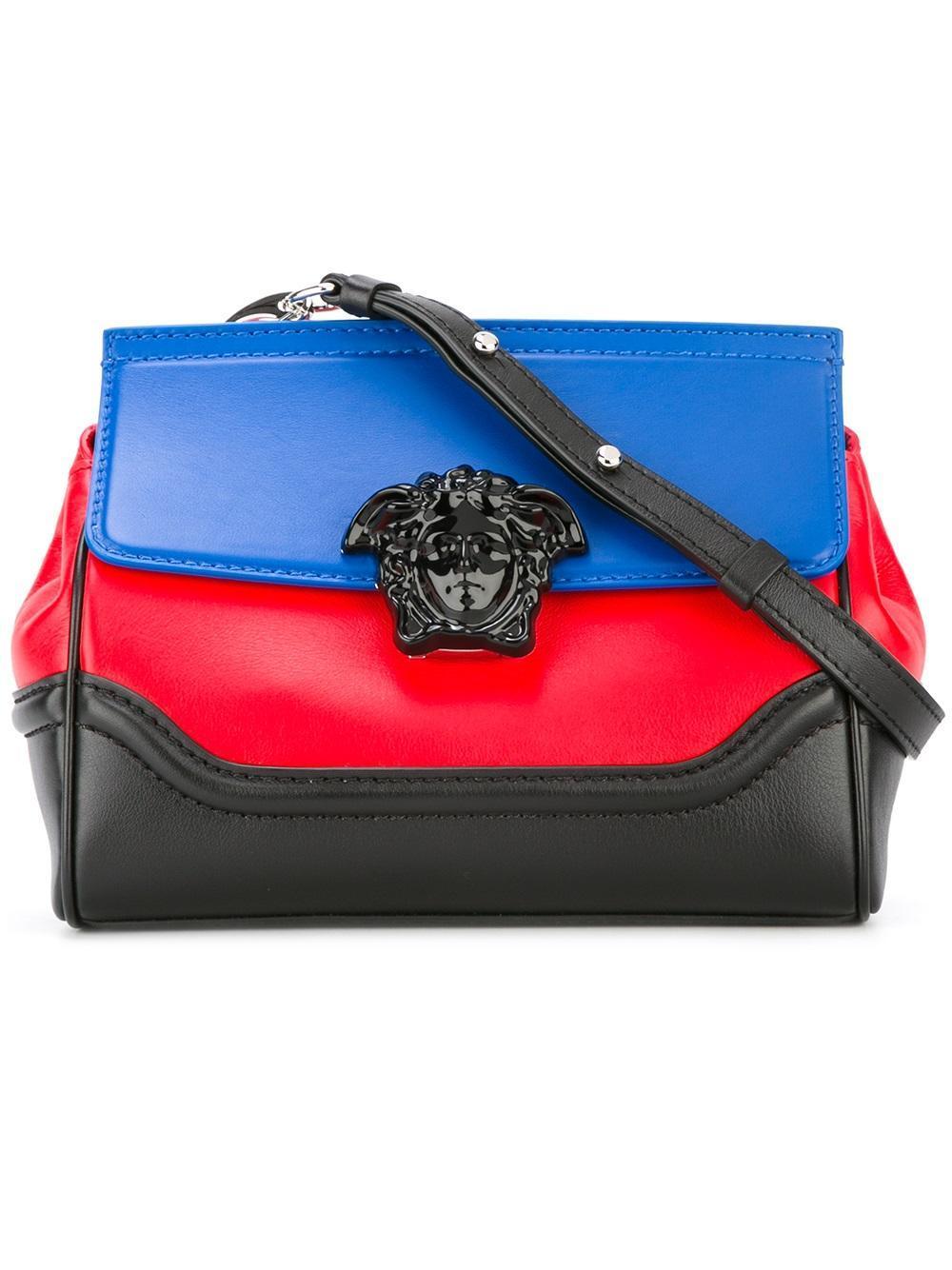 Lyst - Versace Palazzo Empire Colour Block Shoulder Bag in Black 5d8aee8d26490