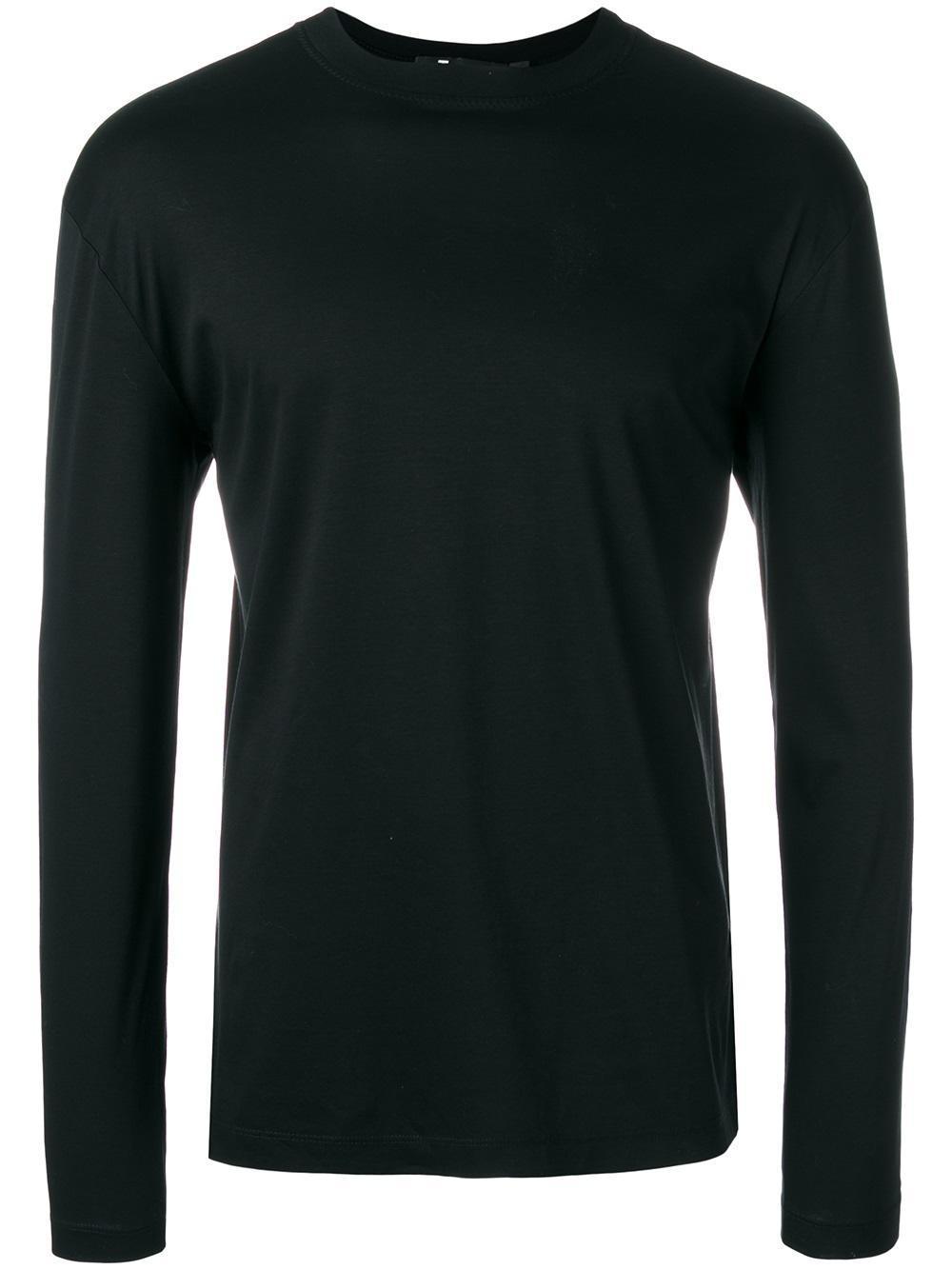 t by alexander wang longsleeved t shirt in black for men lyst. Black Bedroom Furniture Sets. Home Design Ideas