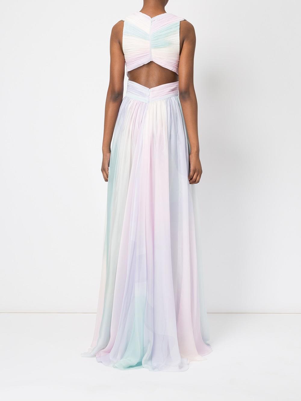 Lyst Zuhair Murad Pastel Rainbow Print Dress