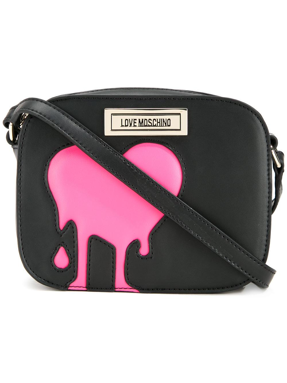 e6257d53f874 Lyst - Love Moschino Melted Heart Crossbody Bag in Black