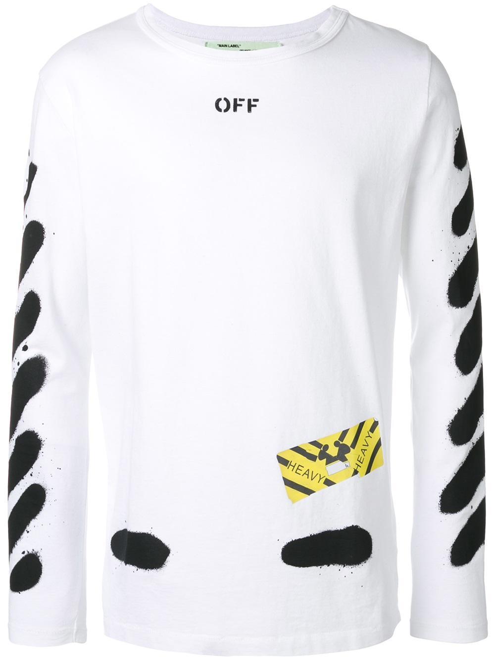 46ca70c048af83 Lyst - Off-White c o Virgil Abloh Spray Detail T-shirt in White for Men
