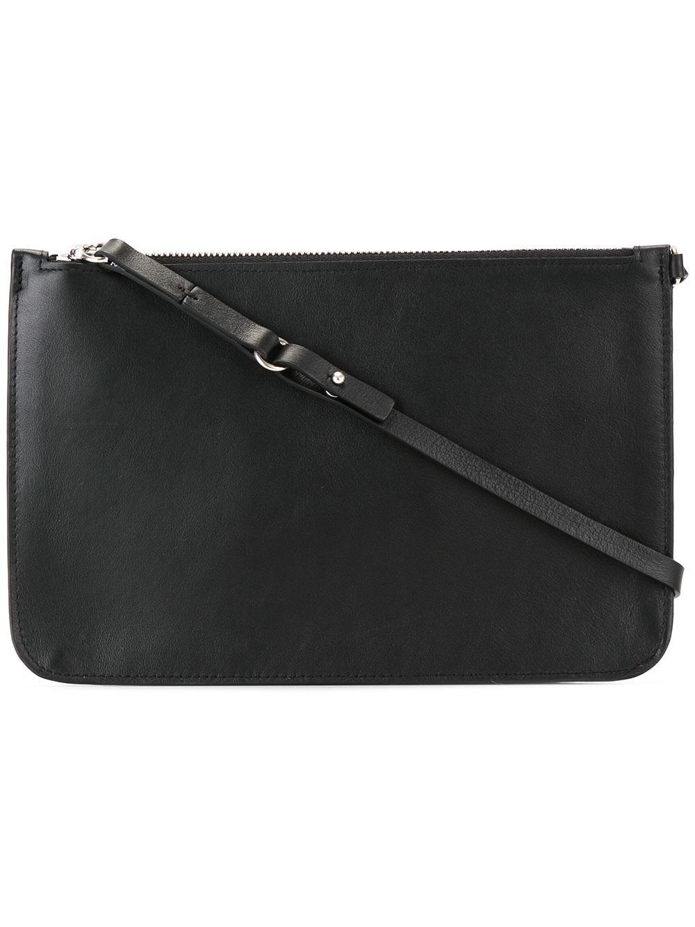 Lyst Maison Margiela Top Handle Clutch Bag In Black