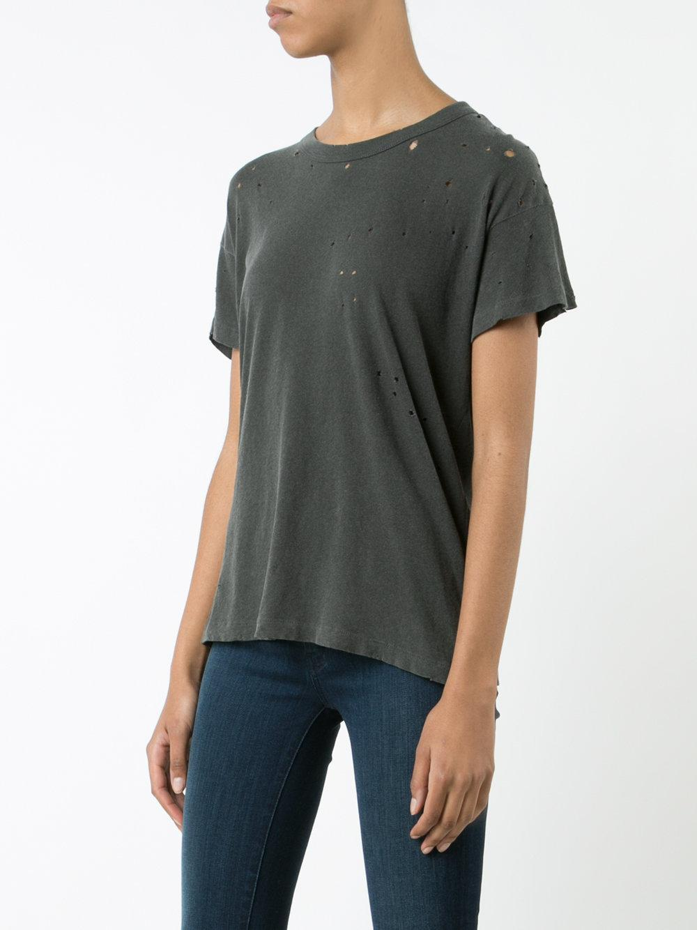 The great perforated detail t shirt women cotton 1 The great t shirt