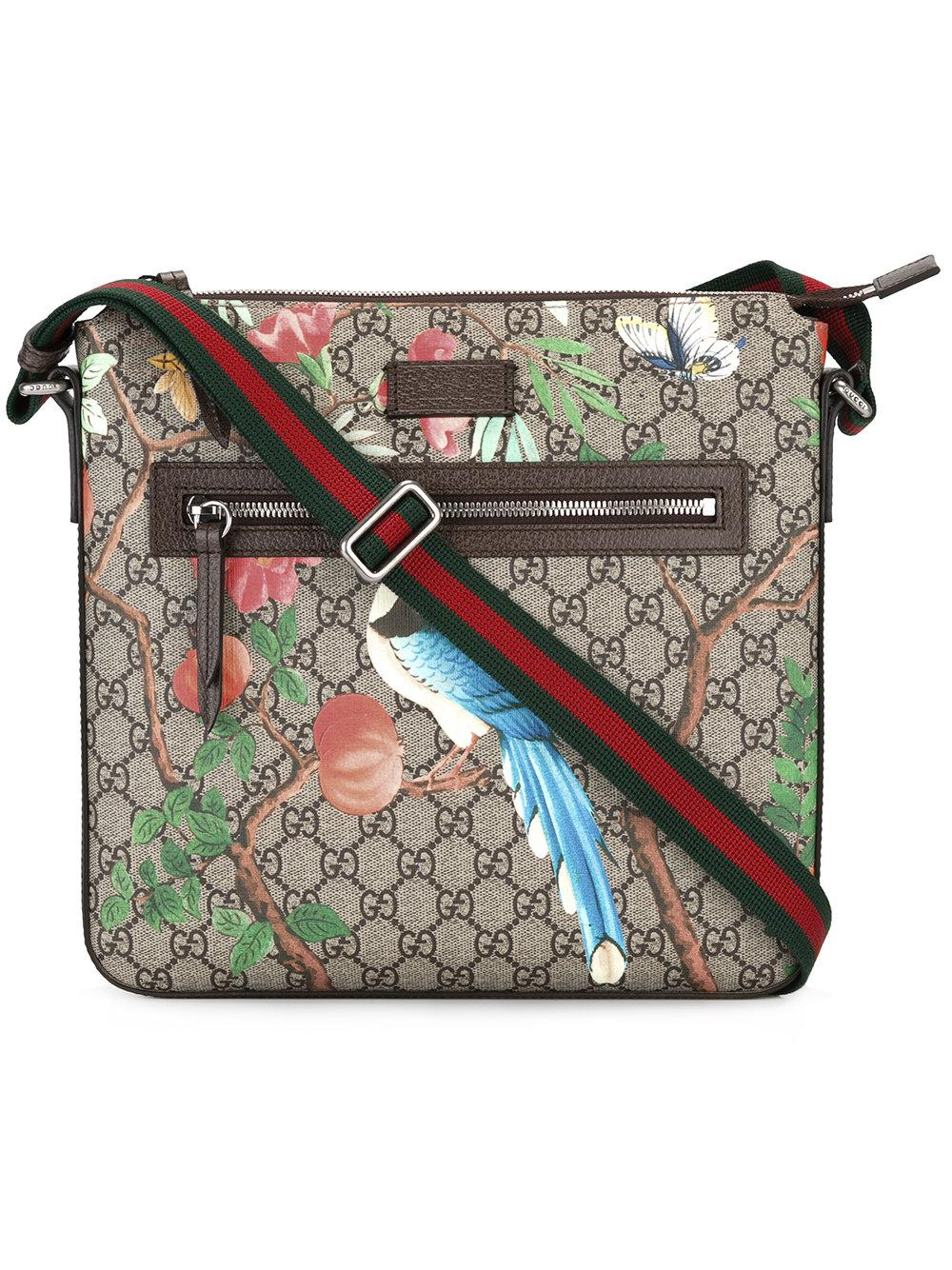 131374fcddb Lyst - Gucci Tian Gg Supreme Messenger Bag in Brown for Men