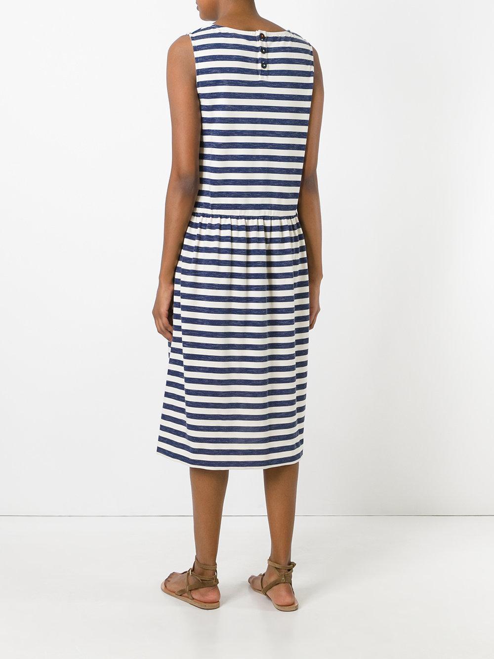 Lyst Chinti Amp Parker Breton Stripe Dress In Blue