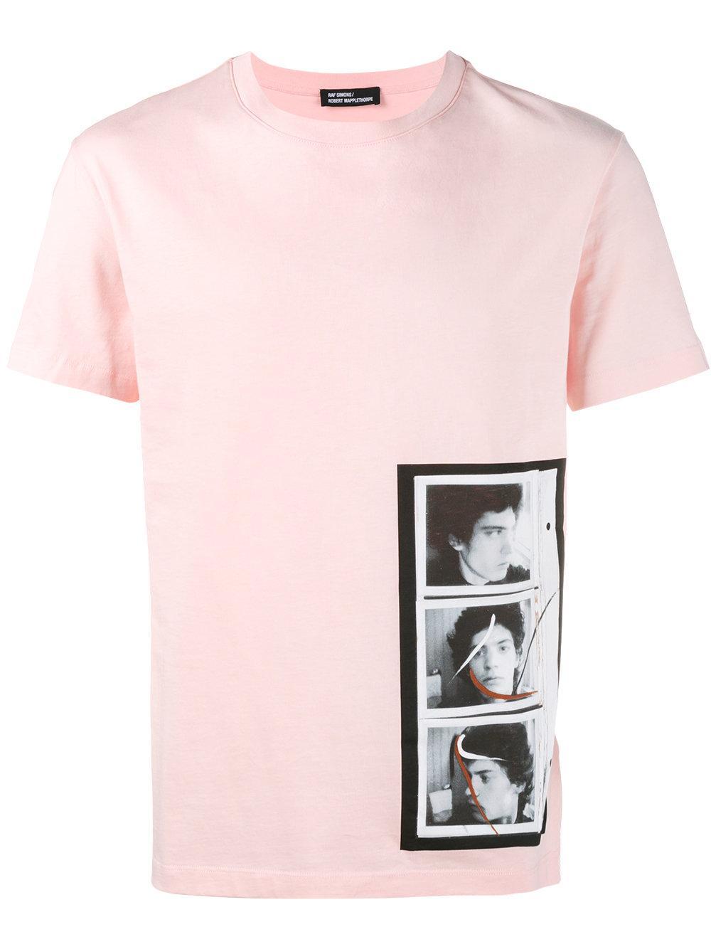Raf simons x robert mapplethorpe triptych print t shirt for Raf simons robert mapplethorpe shirt