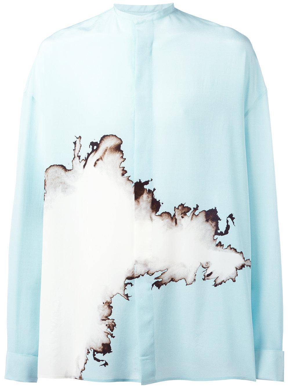 cc7867875 Haider Ackermann Oversized Printed Shirt in Blue for Men - Lyst