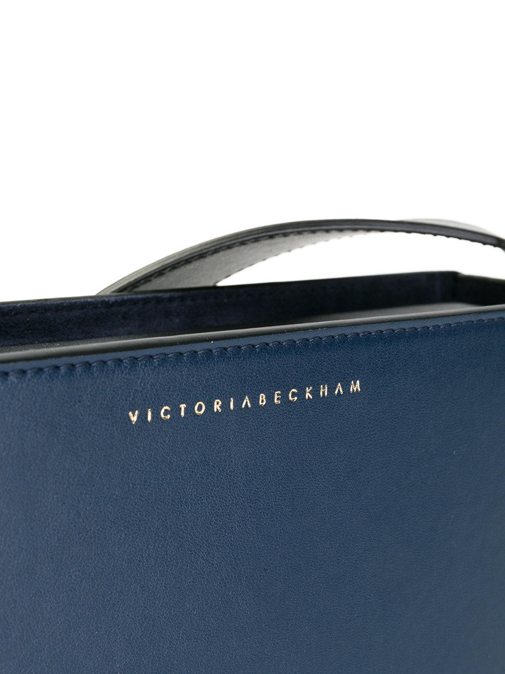 Lyst Victoria Beckham Baby Half Moon Shoulder Bag In Blue
