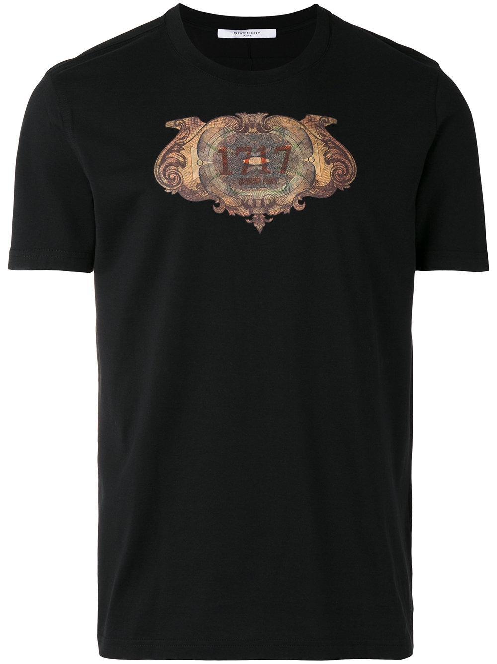 lyst givenchy printed t shirt in black for men. Black Bedroom Furniture Sets. Home Design Ideas