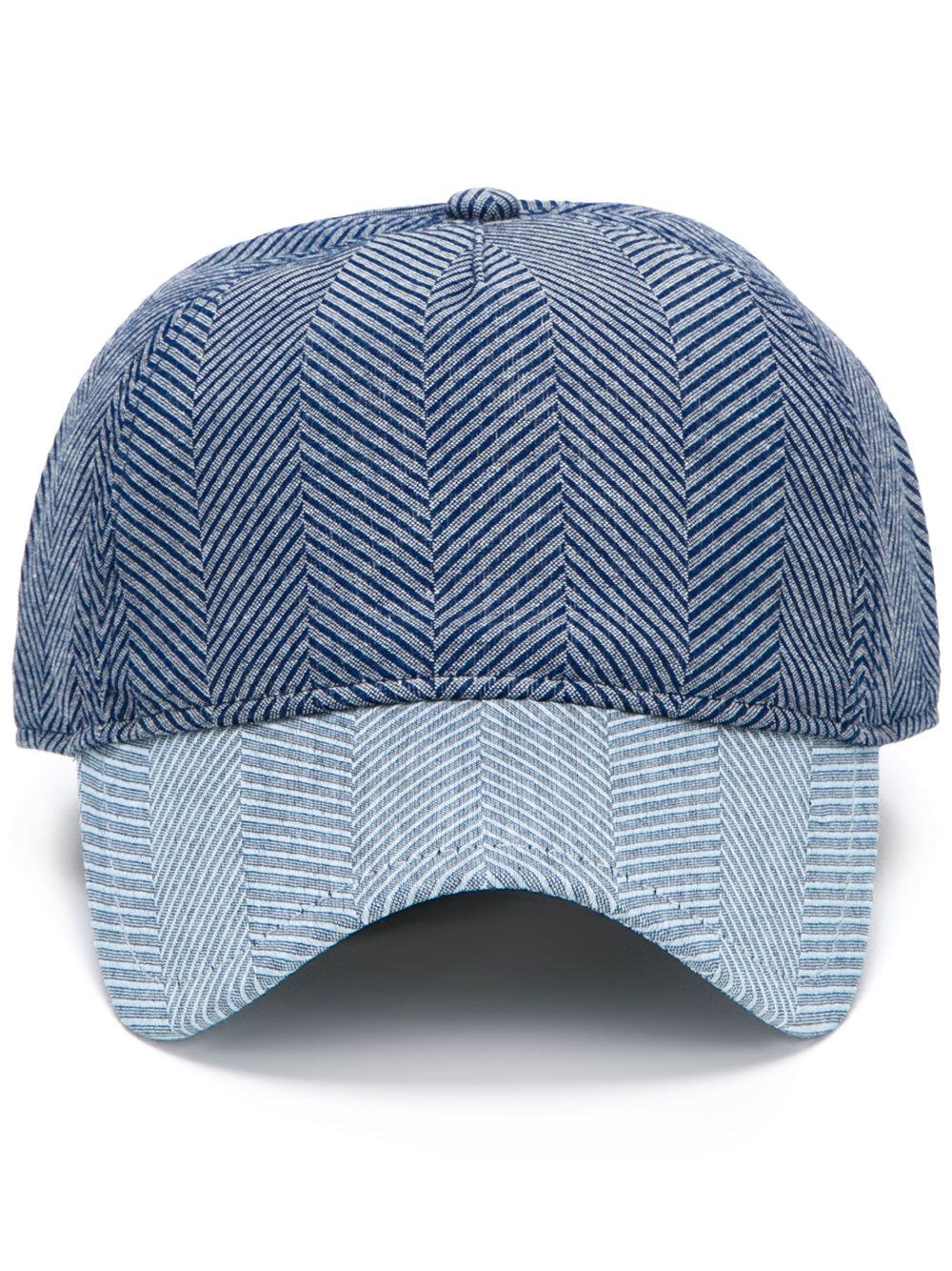 1283917af9a Rag   Bone Striped Bars Cap in Blue for Men - Lyst