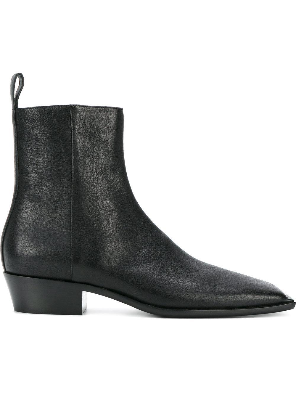 b84d17e724ac Lyst - Balenciaga - Quadro Boots - Men - Leather - 44 in Black for Men