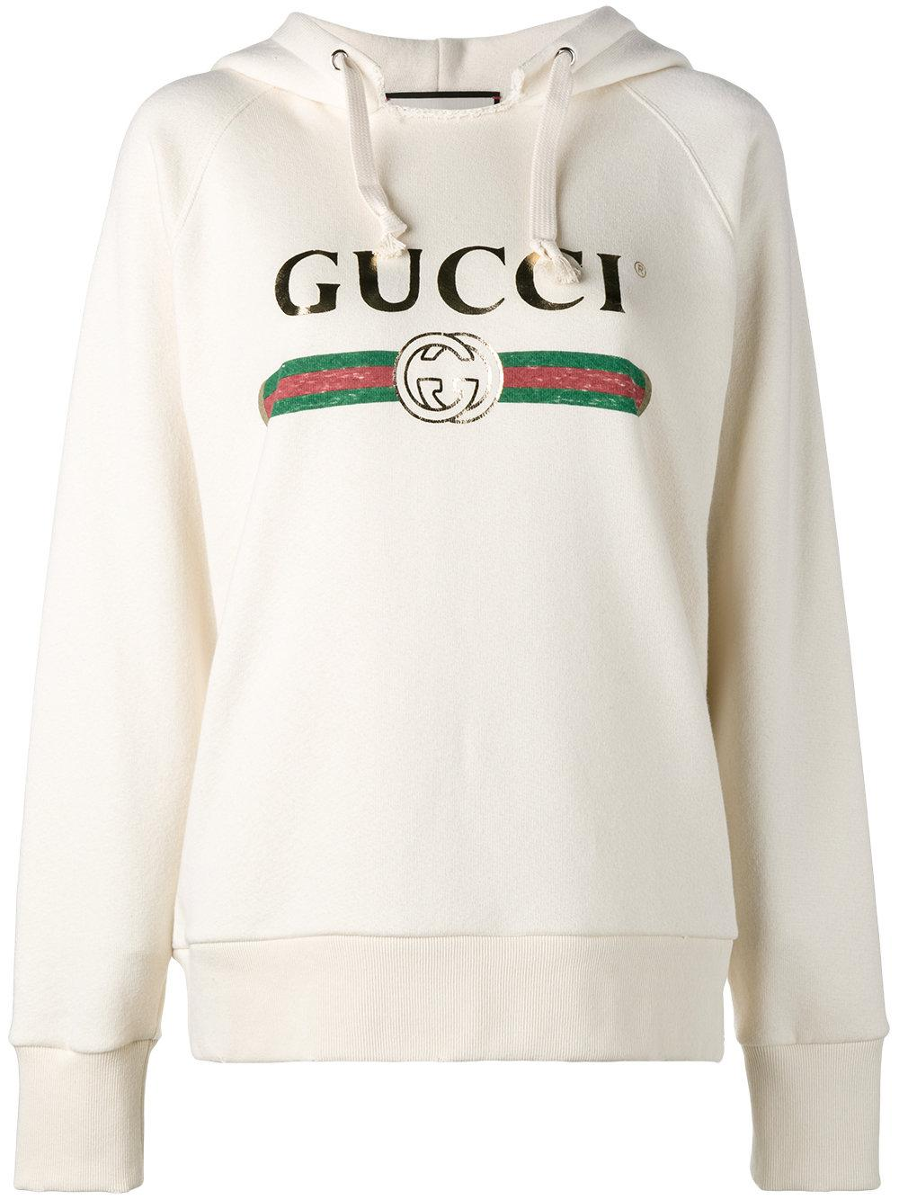 11394091458 Gucci  fake  Embroidered Hoodie - Lyst