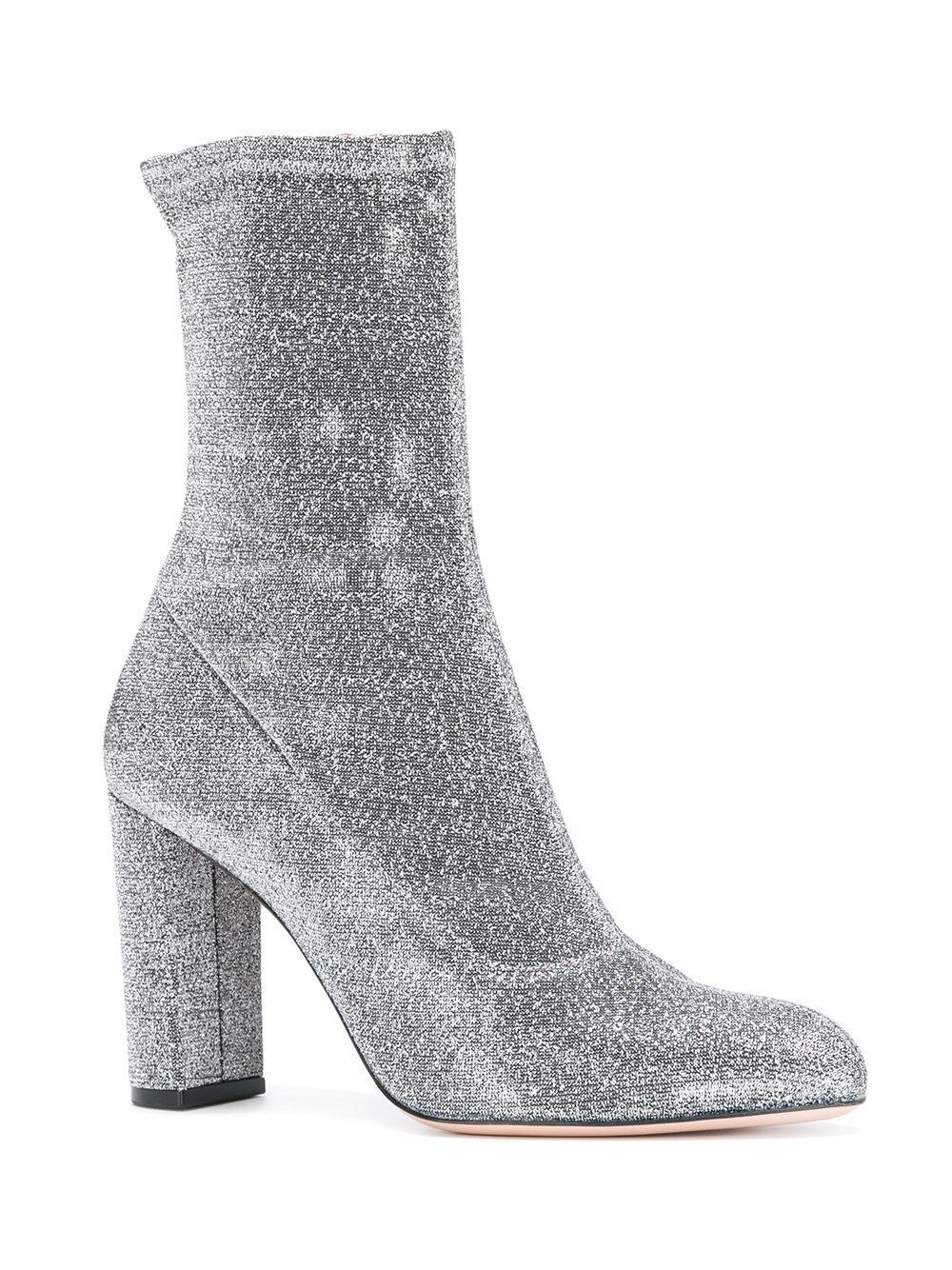 Lyst Oscar Tiye Lurex Boots In Metallic