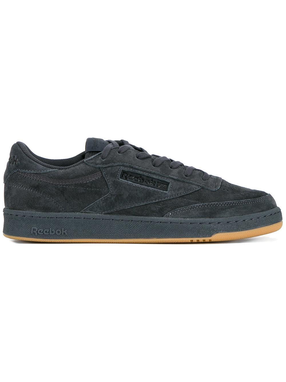 lyst reebok club c 85 tg low top sneakers in black for men. Black Bedroom Furniture Sets. Home Design Ideas