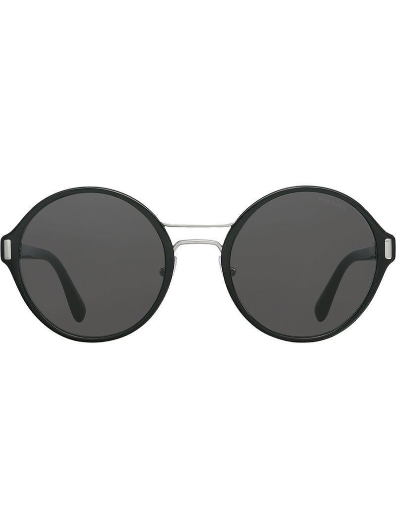 a3740908e174 Lyst - Prada Mod Sunglasses in Black