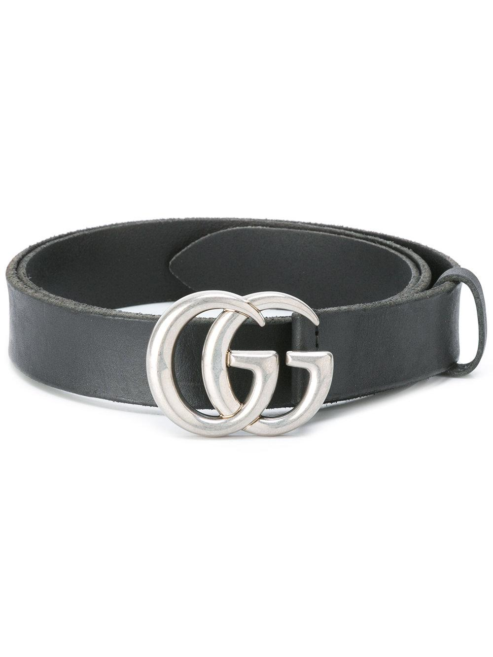 gucci interlocking gg buckle belt in black for men lyst