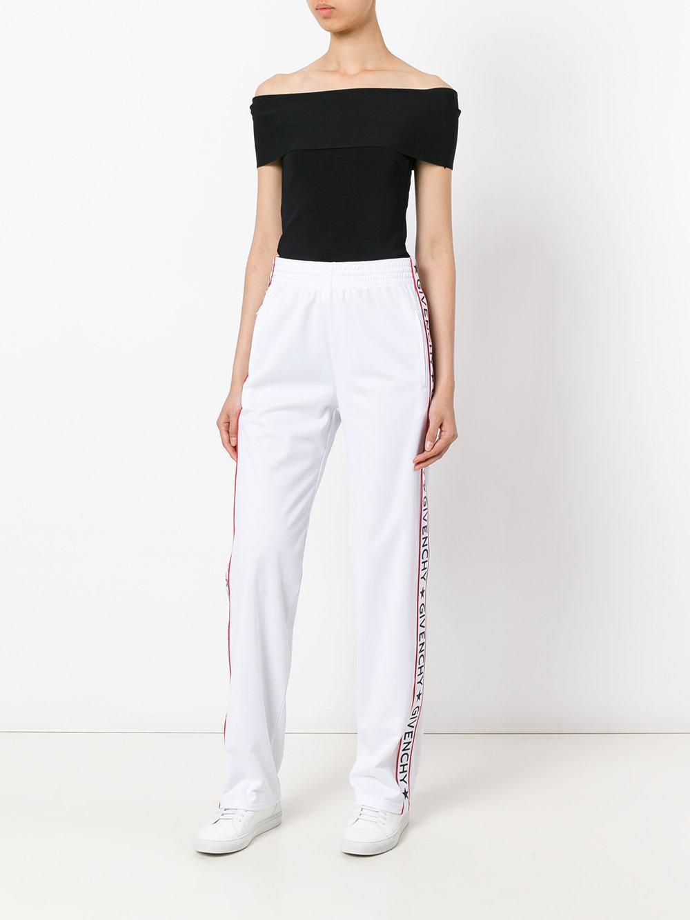 Givenchy Logo Stripe Track Pants Women Cotton