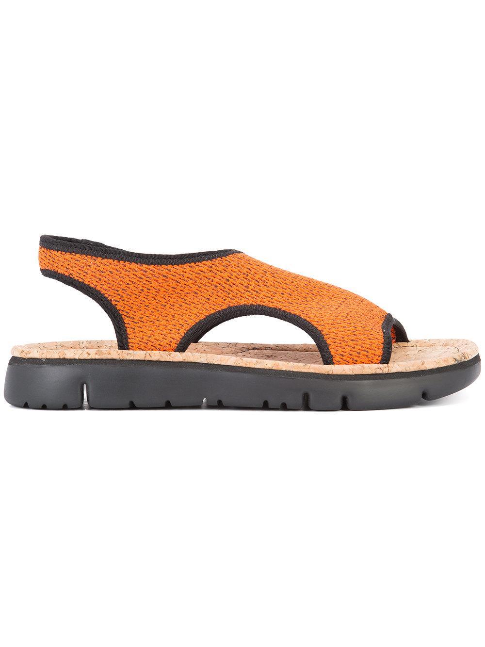 Lyst Camper Slingback Sandals In Orange