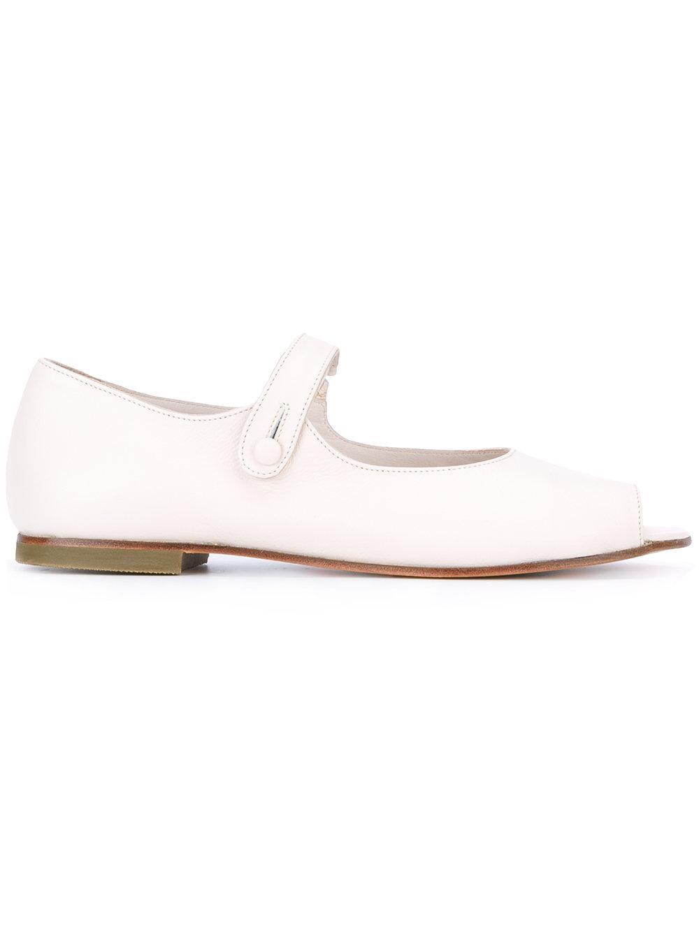 daniela gregis open toe sandals in white lyst