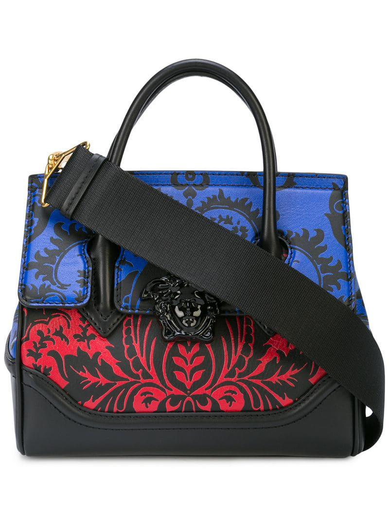 bf0e43d81359 Lyst - Versace Baroque Print Palazzo Empire Bag in Black