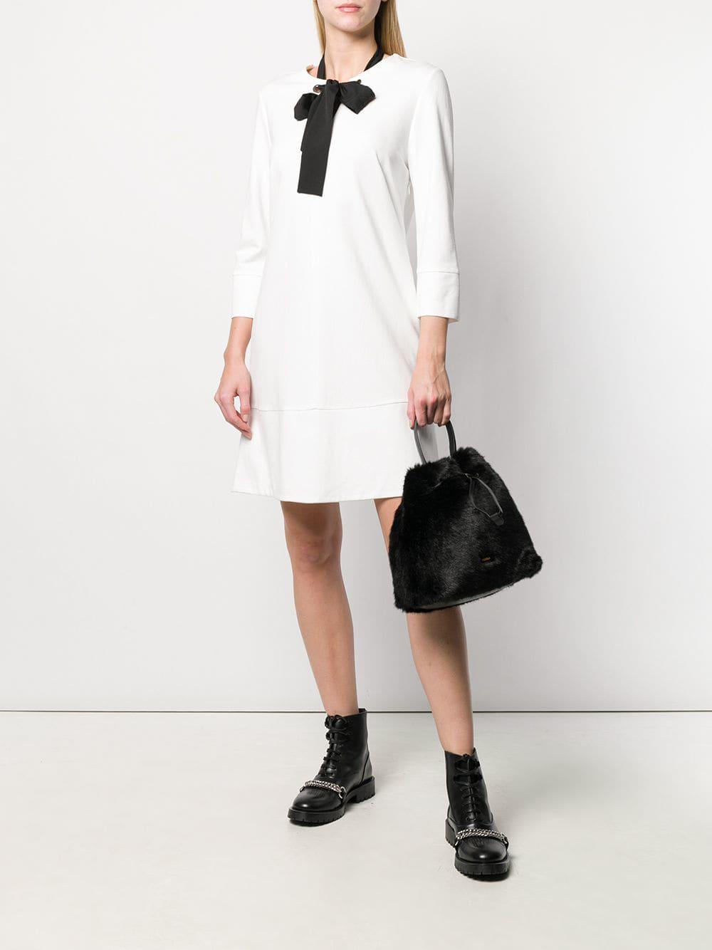 Furla - Black Stacy Faux Fur Bucket Bag - Lyst. View fullscreen f5db8e1e5e329
