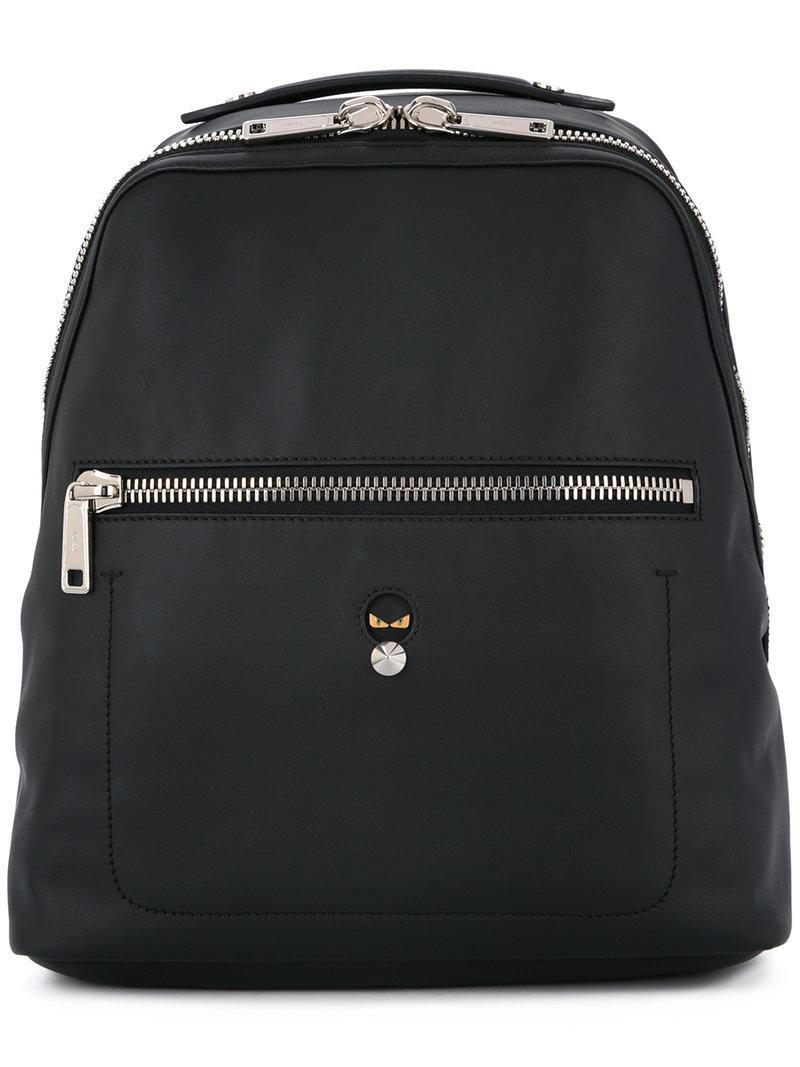20d2e272c686 Lyst - Fendi Micro-bugs Backpack in Black for Men