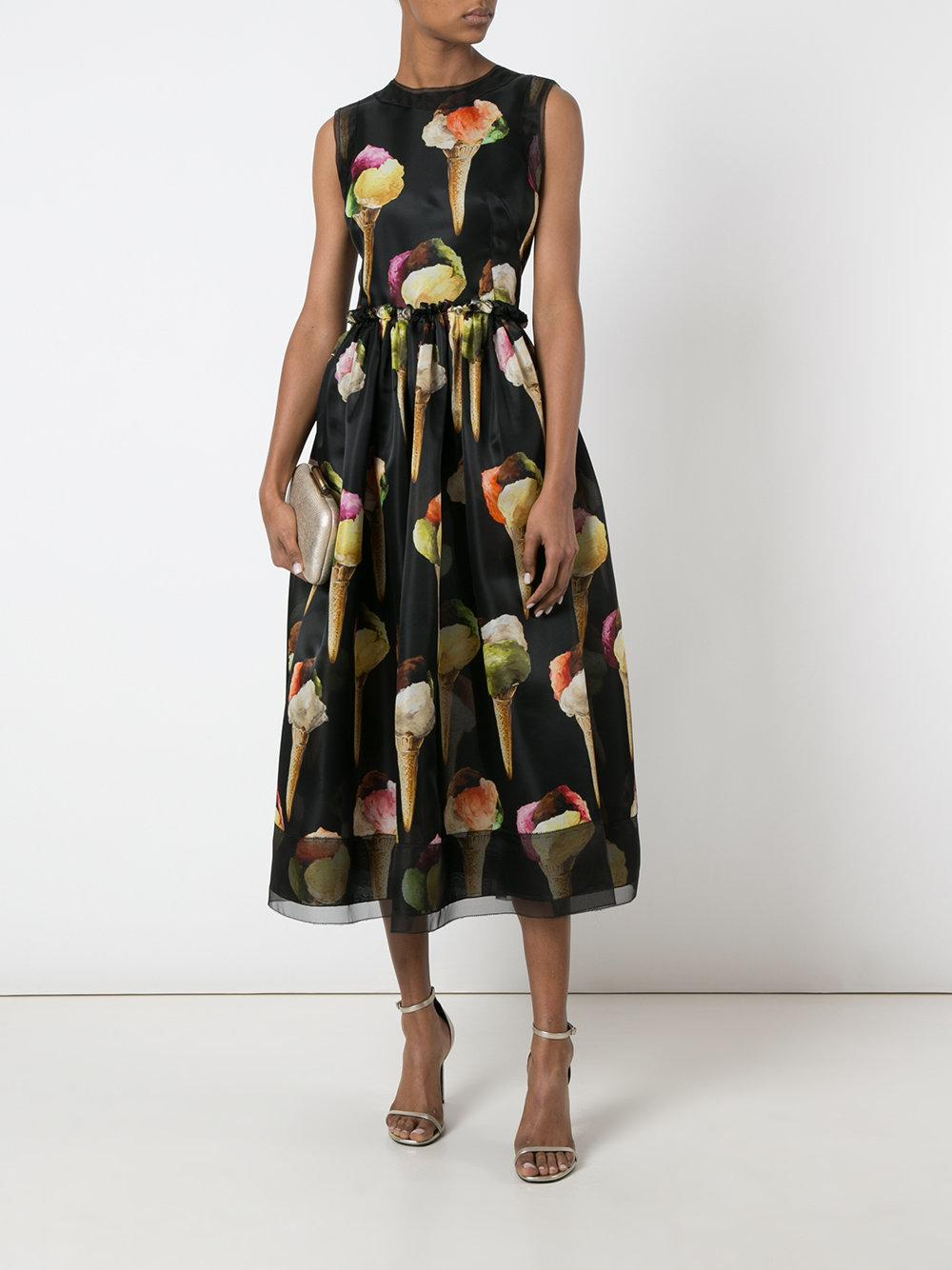 Lyst Dolce Amp Gabbana Ice Cream Print Dress In Black