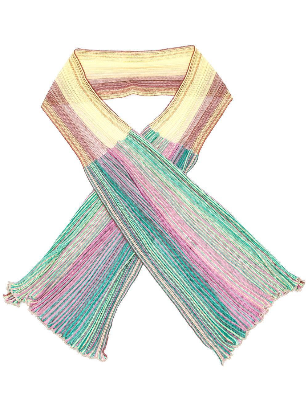 m missoni ribbed knit scarf lyst