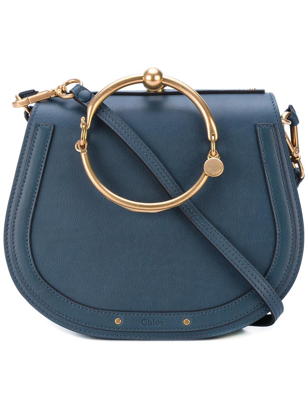Chlo 233 Nile Bracelet Shoulder Bag In Blue Lyst