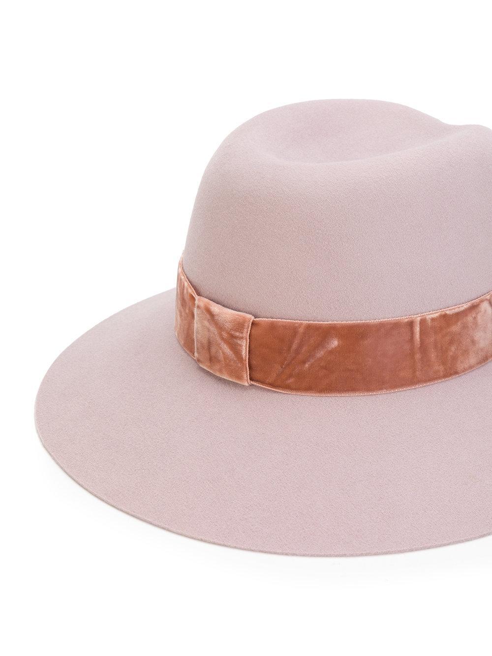 Lyst maison michel felt hat in pink for Maison michel