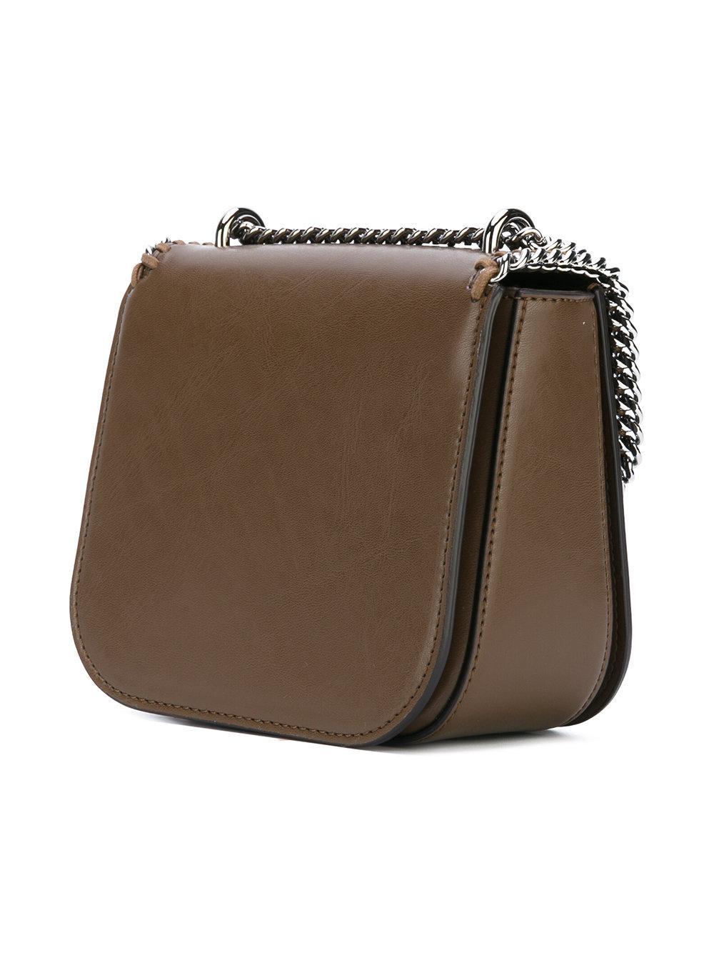 lyst stella mccartney mini falabella box shoulder bag in brown. Black Bedroom Furniture Sets. Home Design Ideas