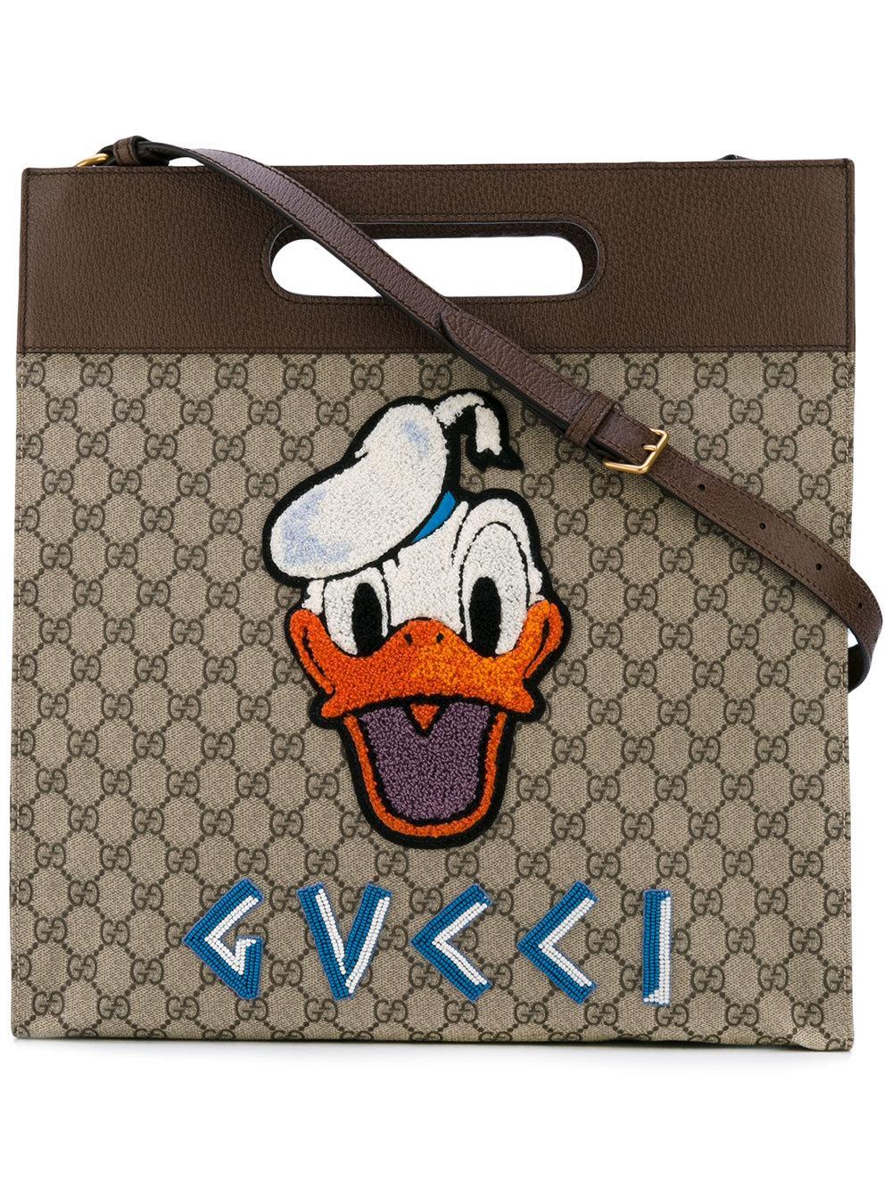 596f0a40e645 Gucci Soft Gg Supreme Donald Duck Tote - Lyst