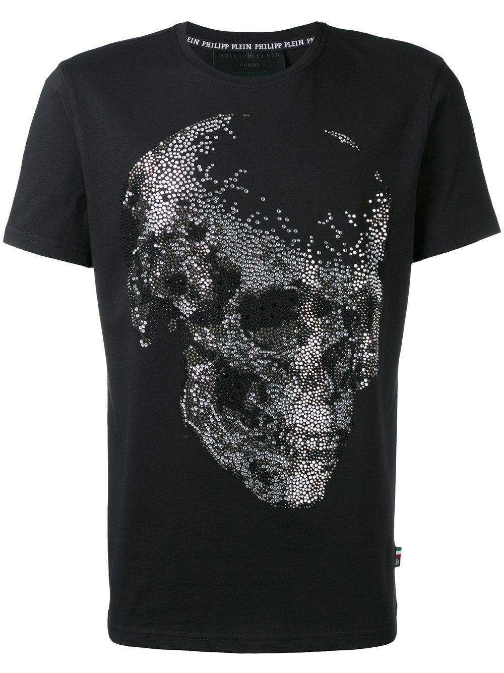 philipp plein kit t shirt in black for men lyst. Black Bedroom Furniture Sets. Home Design Ideas