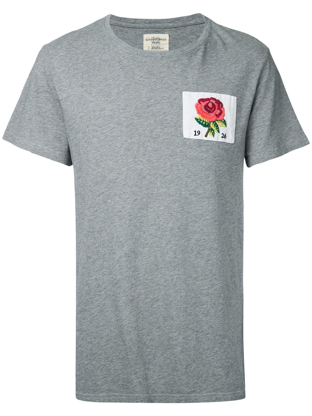 Kent curwen rose t shirt in grey for men lyst